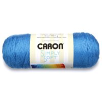 Caron Simply Soft Acrylic Black Yarn, 1 Each