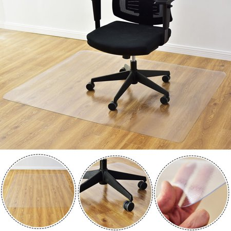 "Costway 47"" x 59"" PVC Chair Floor Mat Home Office Protector For Hard Wood Floors"