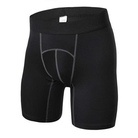 EFINNY Mens Outdoor Compression Tight Sport Running Fitness Shorts
