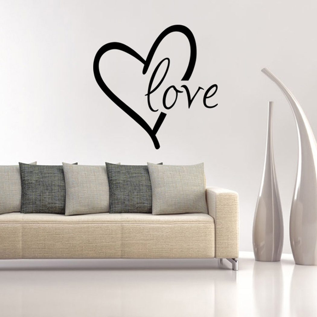 Outgeek Love Letter Sweet Quote Removable Wall Stickers for Home Living Room Bedroom Decor Decals