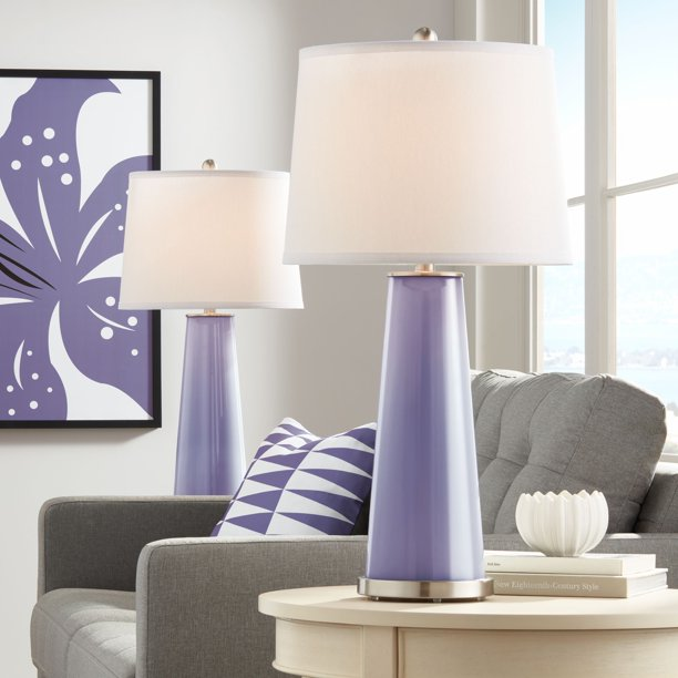 Table Lamps Set Of 2 Purple Haze Gl