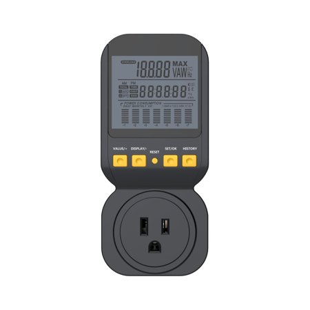 15a Watts (Spartan Power Energy Meter Electricity Usage Monitor 15A, 1800 Watt Maximum SP-PM120 with)