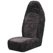 Sheepskin Bucket Seat Cover, Charcoal