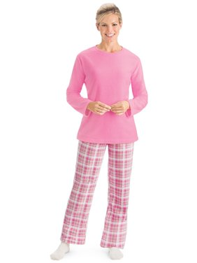 Product Image Women s Fleece Pajama Set   Plaid Pants with Elastic Waist f94c022e9
