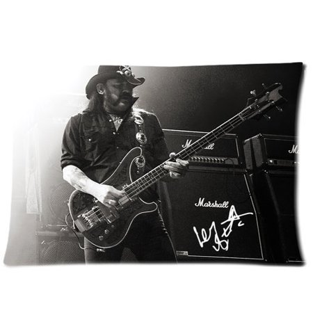 DEYOU Lemmy Kilmister and Guitar Pillowcase Pillow Case Cover Two Sides Printing Size 20x30 inch