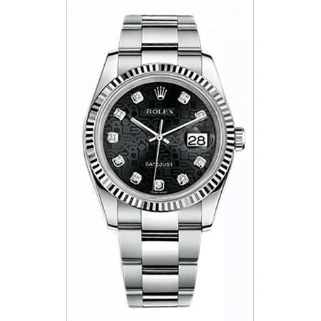 Rolex Mens Datejust 116234 BKJDO 36mm Watch 116234 BKJDO