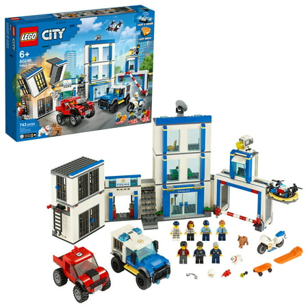 LEGO City Police Station Fun Building Set for Kids 60246