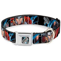 thor marvel comics superhero lightning hammer seatbelt pet collar