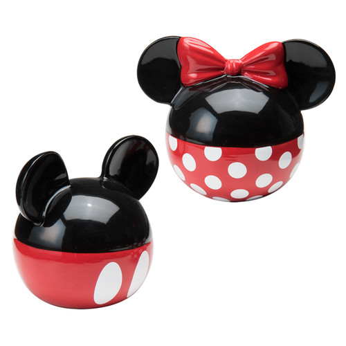 Vandor LLC Disney Mickey and Minnie Mouse Ceramic Salt and Pepper Set by Vandor