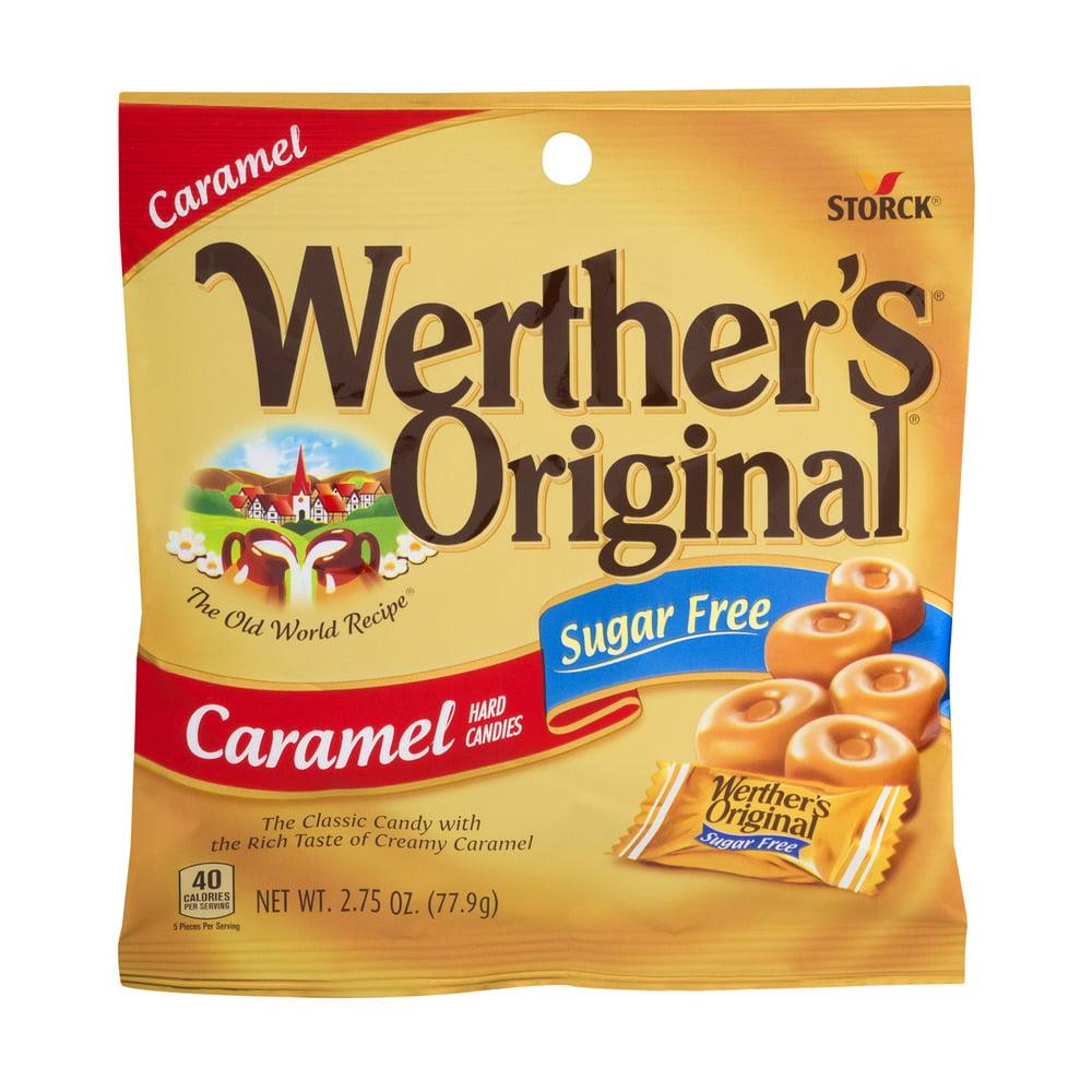 (4 Pack) Werther's Original, Sugar Free Caramel Hard Candies, 2.75 Oz