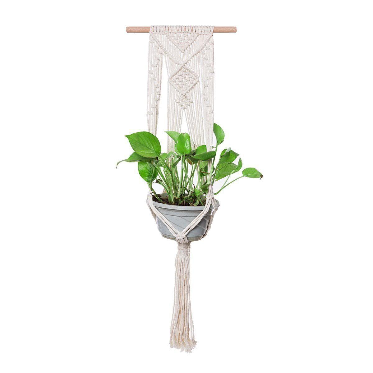 THY COLLECTIBLES Hand-Weaved Macrame Plant Hanger Indoor Outdoor Hanging...