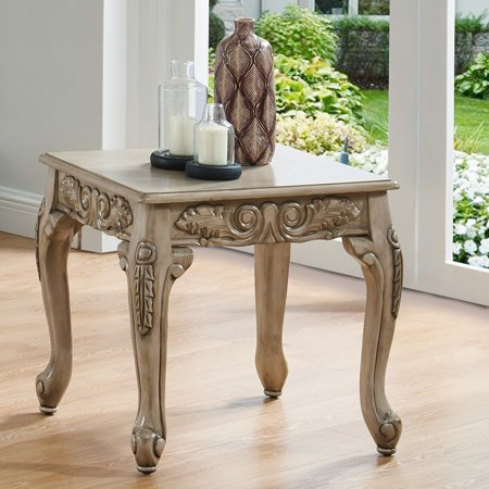 Furniture of America  Drew Traditional Antique White End Table ()