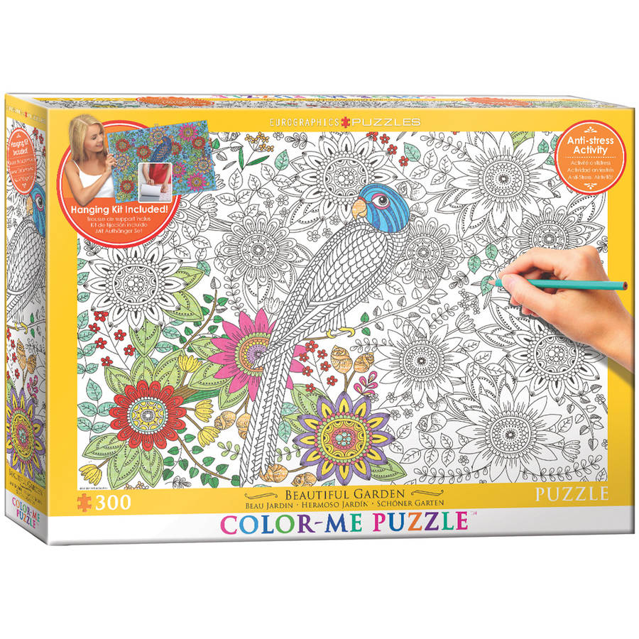 EuroGraphics Color-Me Beautiful Garden 300-Piece Puzzle