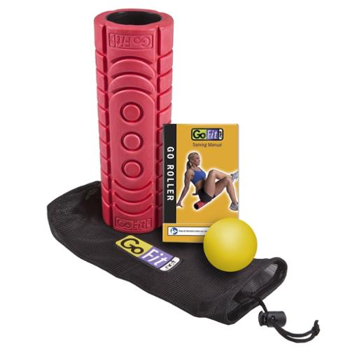 GoFit Go-roller Travel Roller with Trigger Therapy Ball