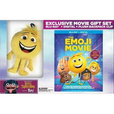 The Emoji Movie (Blu-ray + Digital + Plush Backpack - Funny Halloween Movie Clips