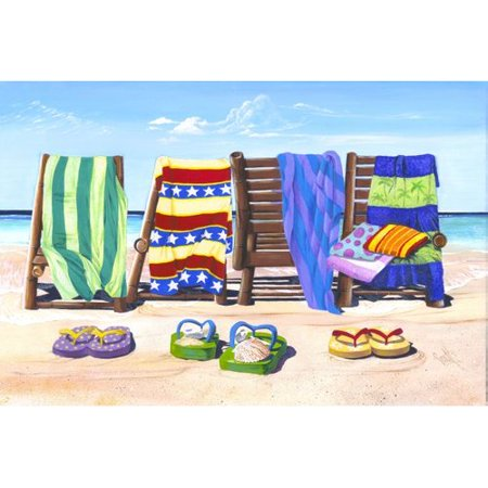 Printfinders 'Sandals and Seats' by Scott Westmoreland Graphic Art on Canvas
