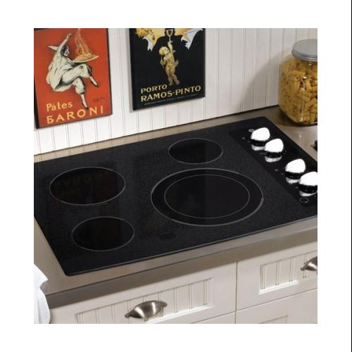 """GE  CleanDesign JP356WMWW 30"""" Smoothtop Electric Cooktop with 4 Ribbon Elements  9""""/12"""" Dual Element"""
