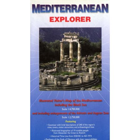 Mediterranean Explorer: Illustrated Visitor's Map of the Mediterranean Including the Black Sea (Ocean Explorer Maps) (Show Me A Map Of The Mediterranean Sea)