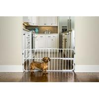 "Carlson Pet Products Expandable Dog Gate, White, 38""L x 2""W x 18""H"