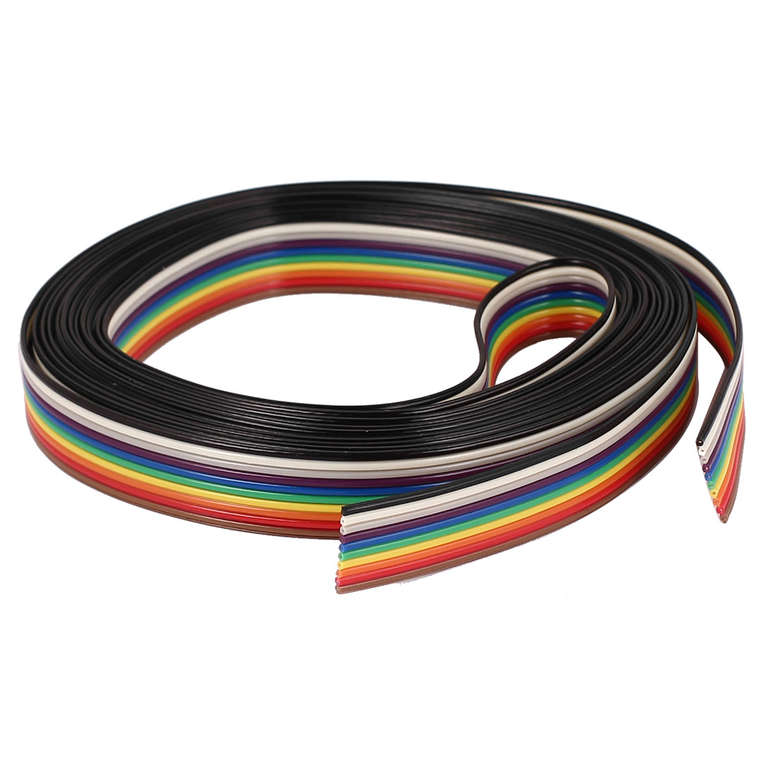 10Pin Flat IDC Ribbon Cable Connector 300 x 1.3cm Long Rainbow Color