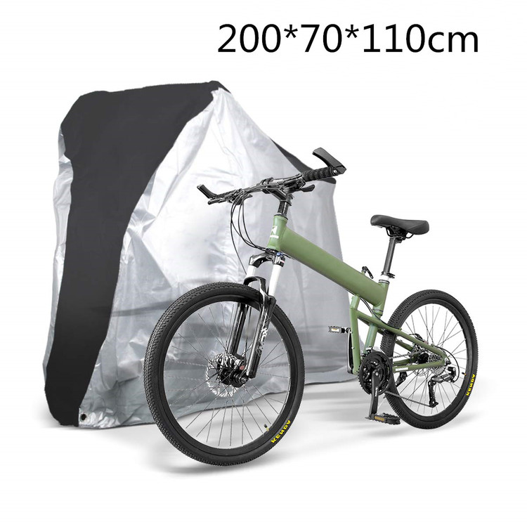 Bike Cover Waterproof Outdoor Bicycle Cover Anti-UV Covers 190T Polyester Taffeta Bike Shelter Dust Rain Protecor Outdoor for Mountain and Road Bikes XL