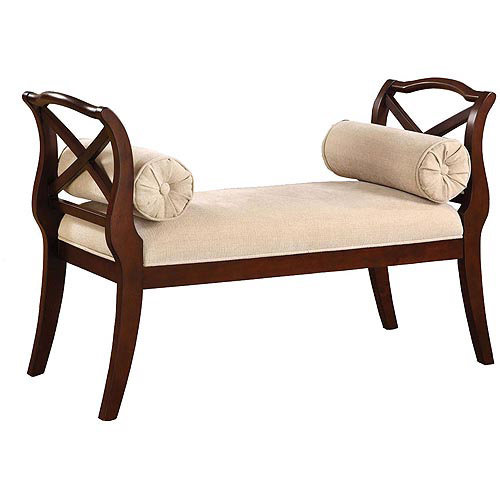 Venetian Worldwide Philipsberg II Bench, Dark Cherry