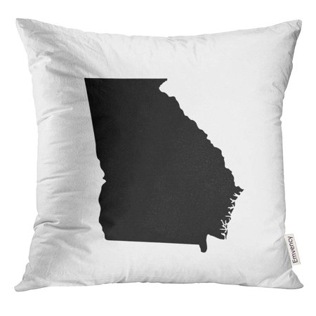 Georgian Shape - ARHOME Shape Map of The U State Georgia Abstract Pillow Case 20x20 Inches Pillowcase