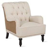 Dorel Living Stevie Charles of London Arm Chair in Beige and Brown