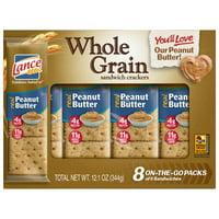 Lance Sandwich Crackers, Whole Grain Peanut Butter, 8 Count