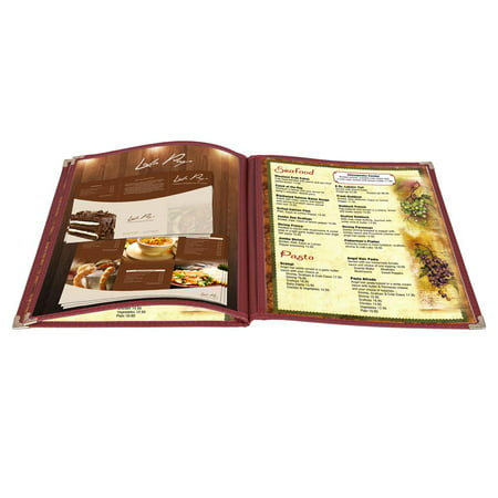 Yescom 30Pack 8.5x11inches 6 View 3 Page Menu Covers Trim Trifold Transparent Volume (Tri View)