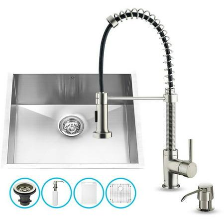 Vigo Industries Vg15343 Undermount Kitchen Sink And Faucet Set Stainless Steel