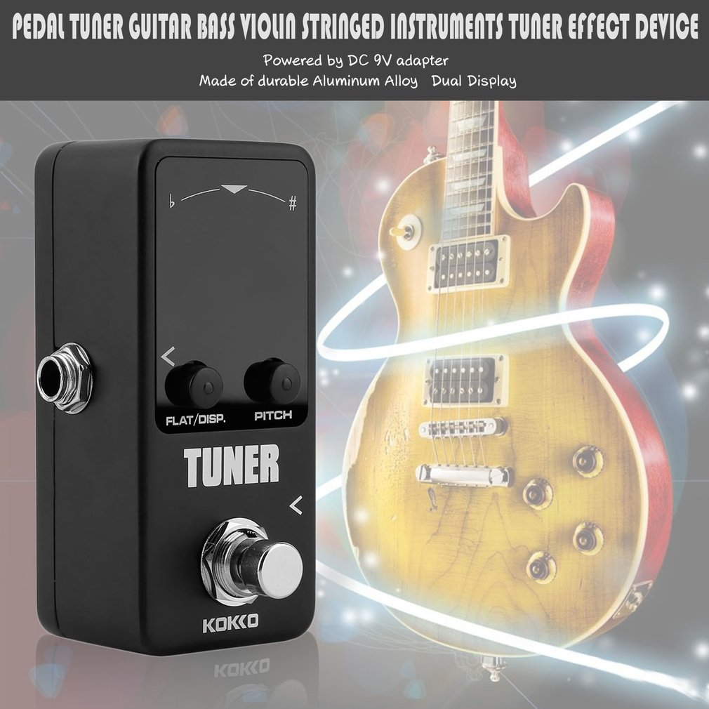 Pedal Tuner Guitar Bass Violin Stringed Instruments Tuner Effect Device Parts by