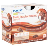 Equate Meal Replacement Shake, Creamy Milk Chocolate, 11 Fl Oz, 6 Ct