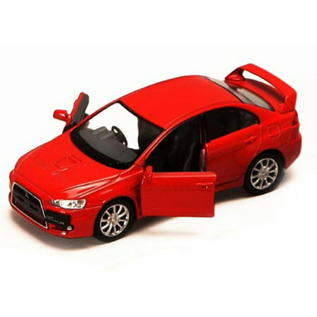 2008 Mitsubishi Lancer Evolution X, Red - Kinsmart 5329D - 1/36 scale Diecast Model Toy Car (Brand New, but NOT IN BOX)