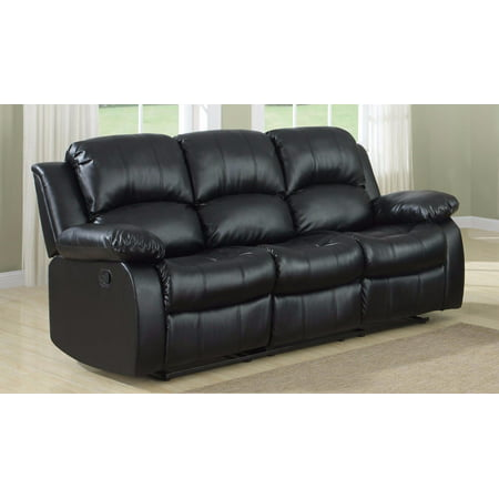 Classic  3 Seat Bonded Leather Double Recliner (Amalfi Sofa Seat)