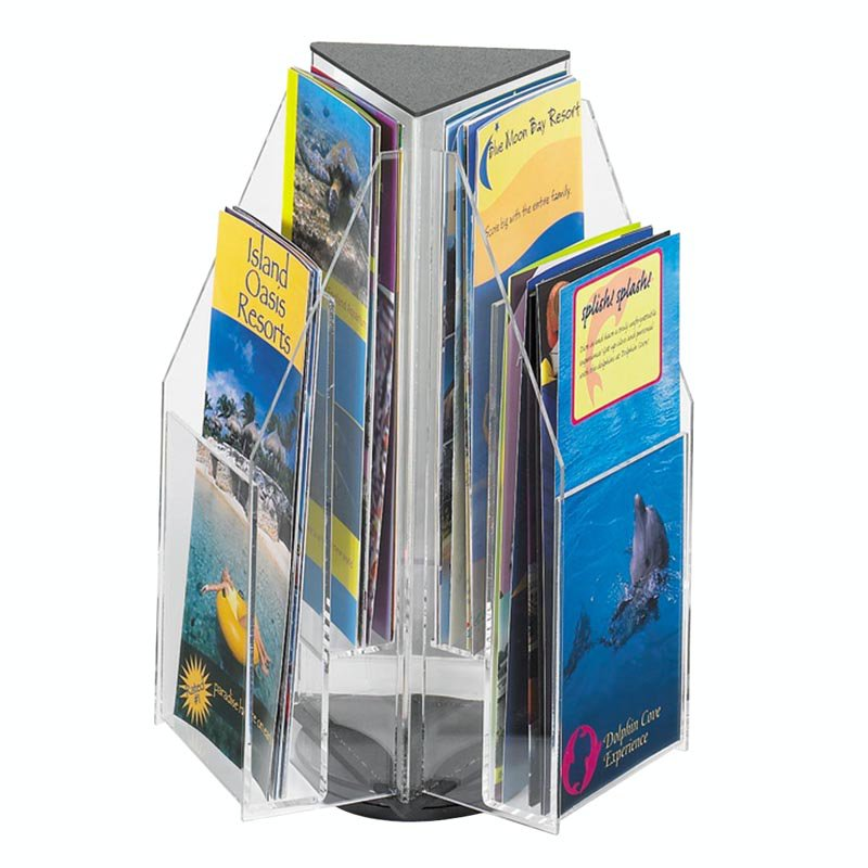 6 Pamphlet 2-Tier Tabletop Display