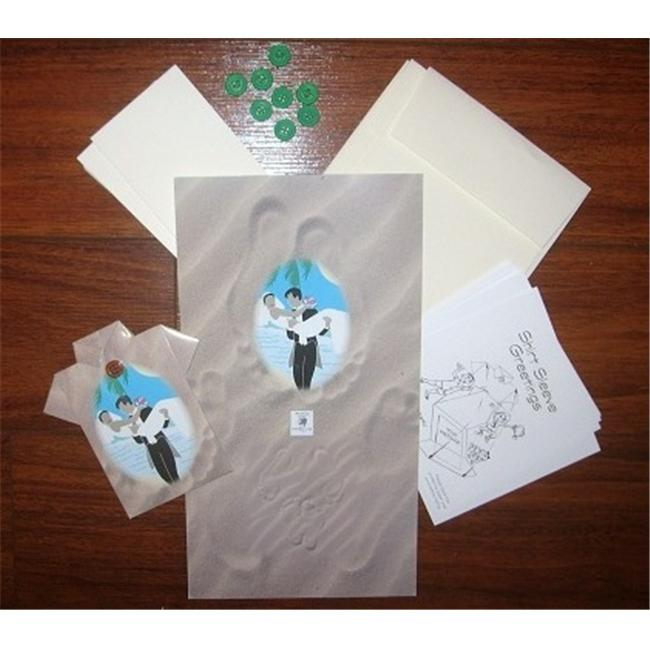 Fun Foldables By Shirt Sleeve Greetings 1638 Tropical Wedding Origami Greeting Card Kit