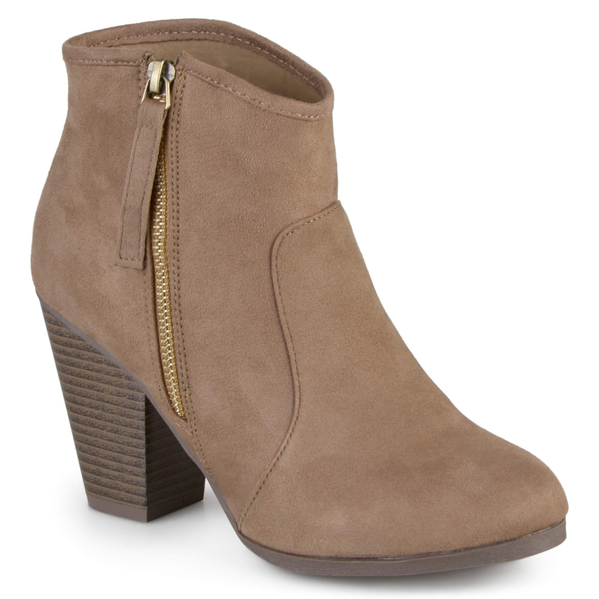 a5cc2b19eda Brinley Co. Women's Wide Width Faux Suede High Heel Ankle Boots