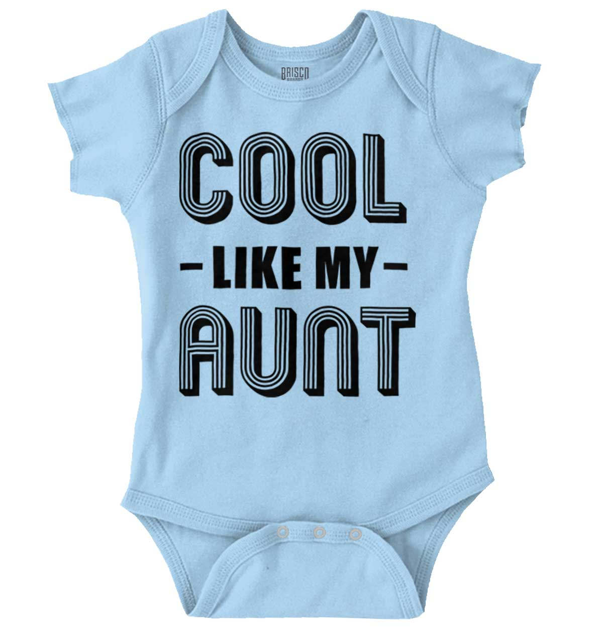 I Love My Crazy Aunt Funny Cute Shower Gift Newborn Romper Bodysuit For Babies