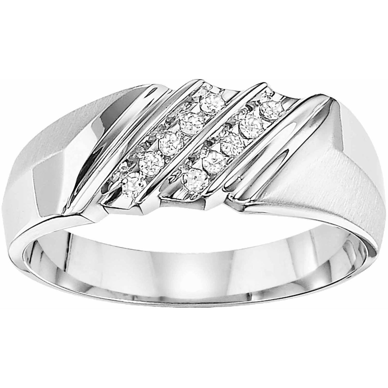 1 10 Carat T.W. Diamond Wedding Band in 10kt White Gold by Frederick Goldman Inc.