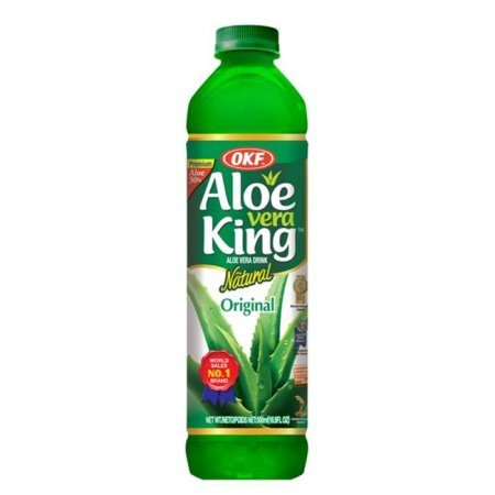 OKF Aloe Vera King Drink, Mango, 16.9 Fl Oz (Case of
