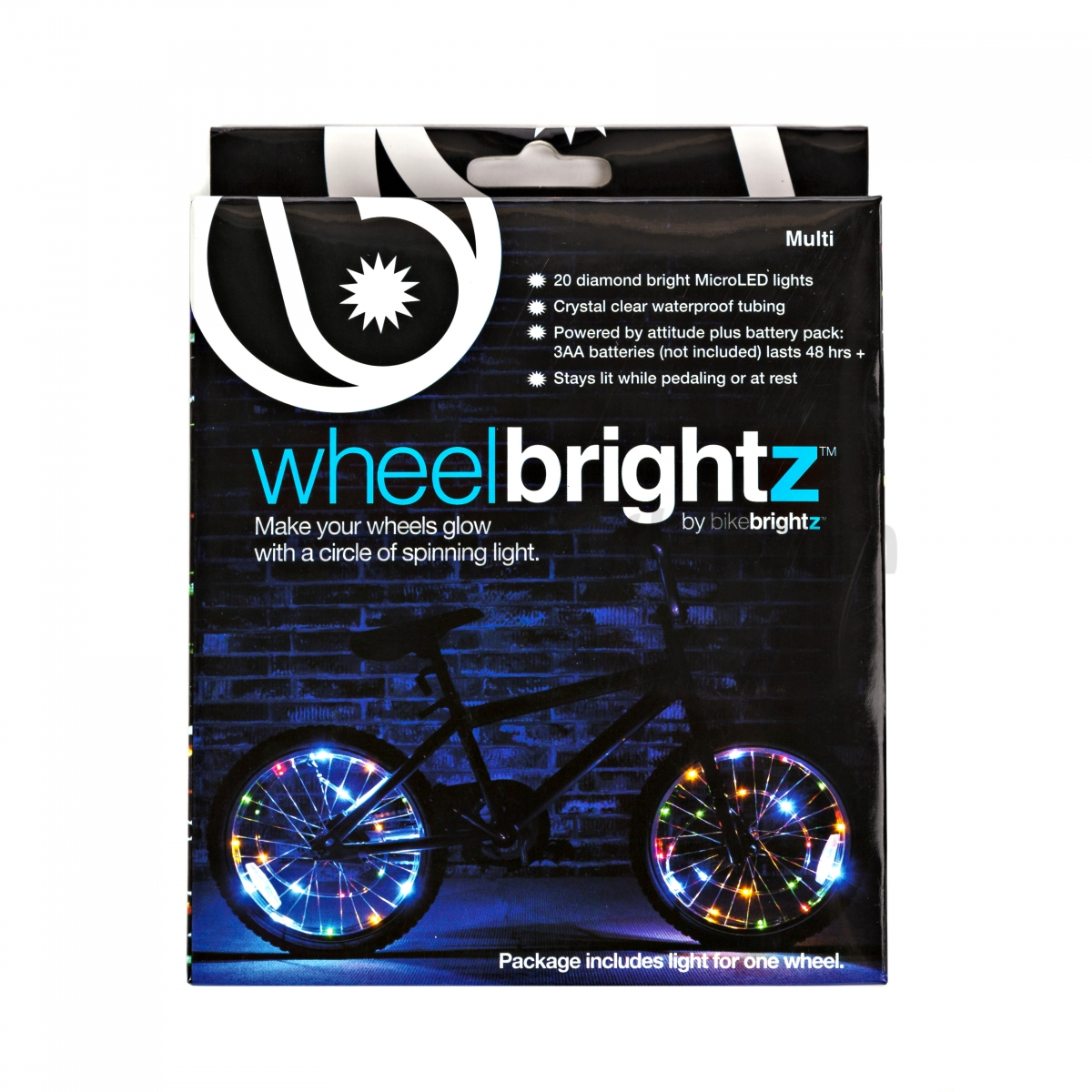 Wheel Brightz Lightweight LED Bicycle Safety Light Multicolored