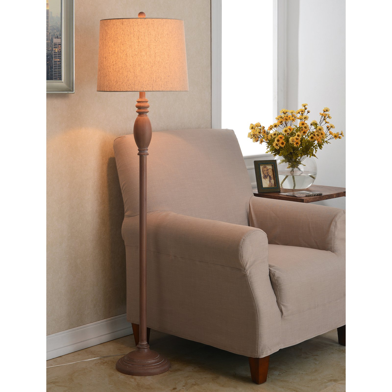 Kenroy Home Channing Light Wood Grain Floor Lamp by Kenroy Home