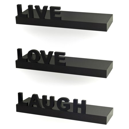 Danya B Decorative Live Love Laugh Wall Shelf   Set Of 3
