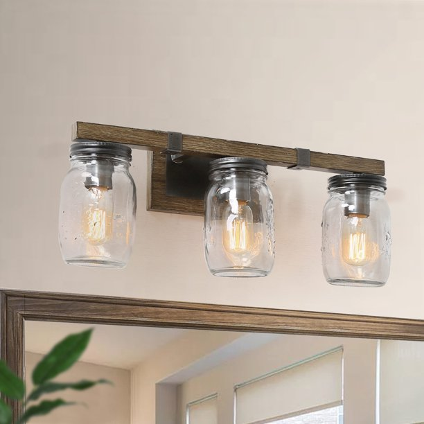 Farmhouse Bathroom Wall Sconce Faux