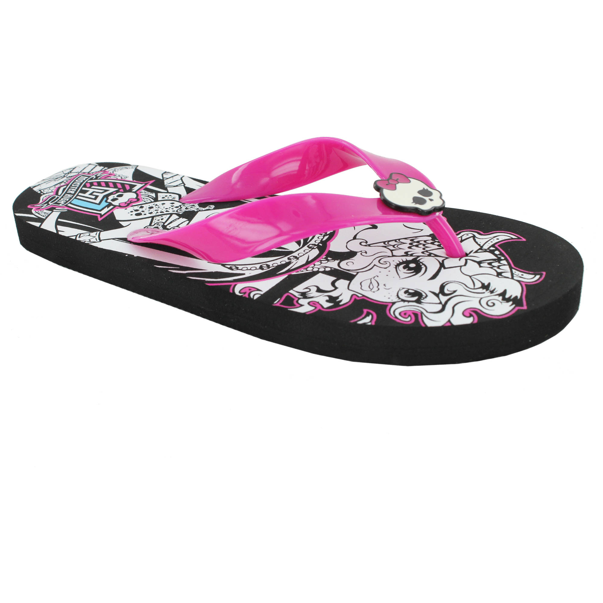 Monster High Girl's Strobe Beach Thong Sandal