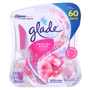 Glade PlugIns Scented Oil Air Freshener Refill, Sweet Pea & Lilac, 2 count, 1.34 Ounces