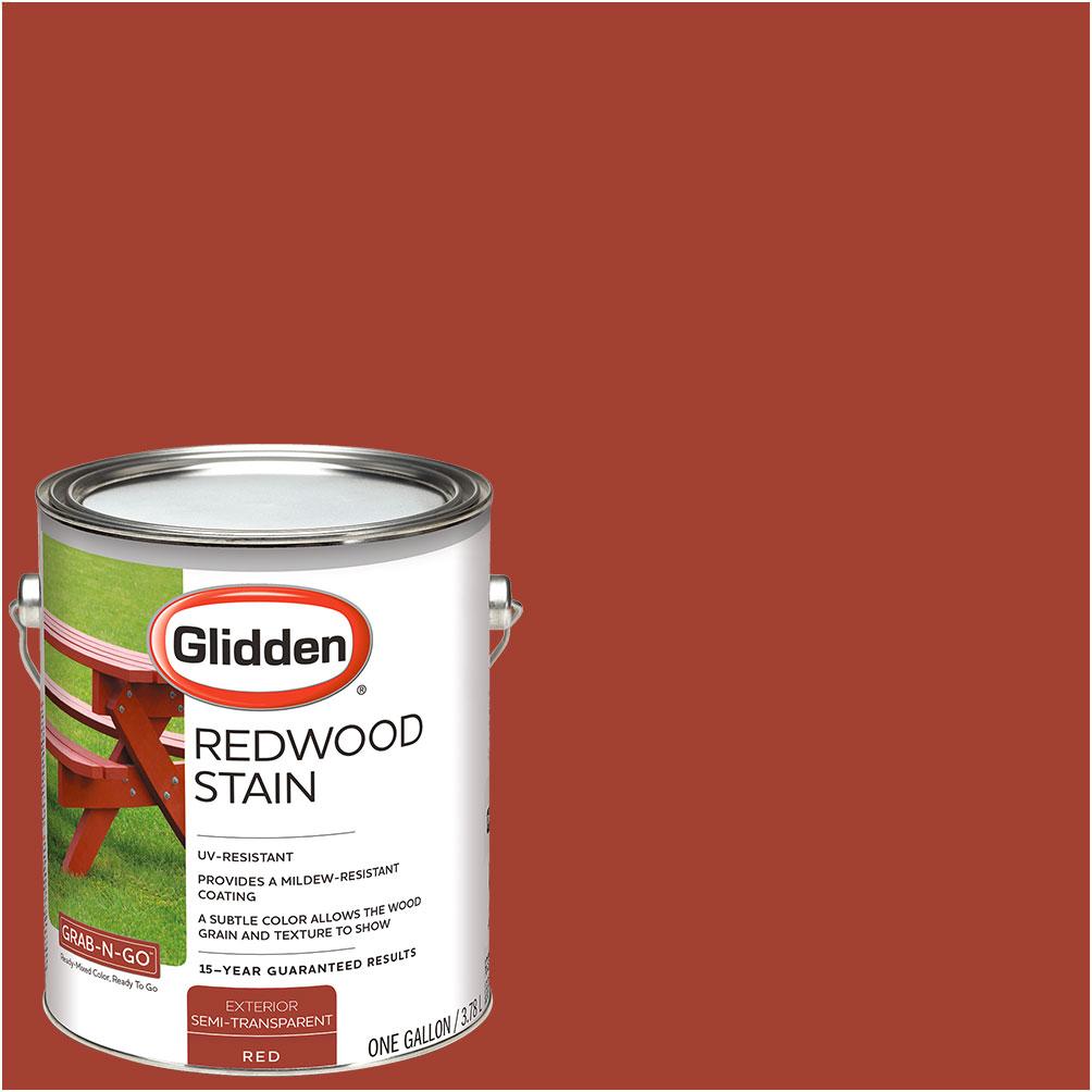 Glidden Redwood Stain Exterior 1-Gallon