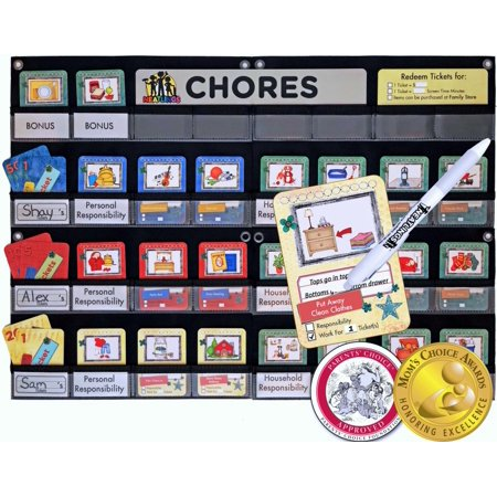 NEATLINGS Chore Chart for up to 3 Children, 80+ Chores for Toddlers to Teens (Wac Chart)