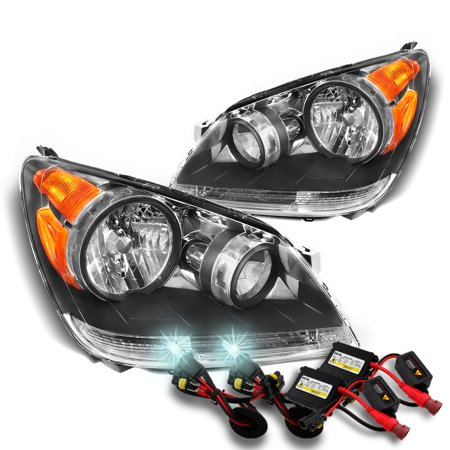 [Black] Fits 2008-2010 HONDA ODYSSEY LH+RH HEADLIGHTS Headlamps + 8000K HID Kit